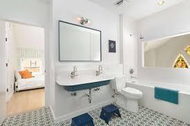 Bathroom  Comfortable Kids Bathroom Design With Rectangle Glass - Bathroom design for kids