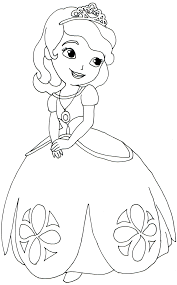 sofia the first coloring pages 16345
