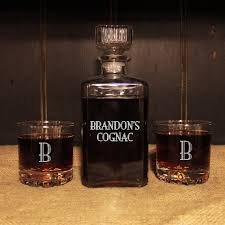 engraved barware personalized glass whiskey decanter set engraved barware