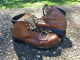 womens boots vibram sole vintage brown leather hiking boot sz 8 vibram depose