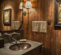 Rustic Bathroom Sconces Rustic Wall Sconces For Candles Bathroom Rustic With Wood