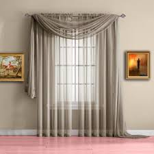 warm home designs taupe window scarf valance sheer taupe curtains