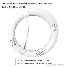 9 inch circular fluorescent light bulb 9 inch circline 12w t9 led light bulb daylight 6000k replacement for