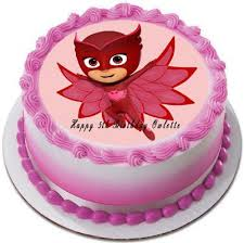 edible images for cakes pj masks 4 owlette edible cake topper cupcake toppers edible