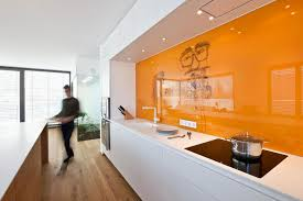 orange and white kitchen ideas housing building of seven units in kirchberg keribrownhomes