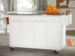 real simple rolling kitchen island in white inspirations and com