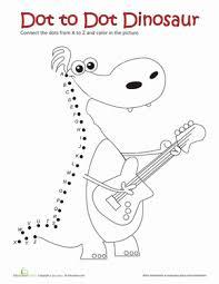 dot to dot a to z dinosaur worksheet education com