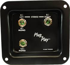 jack plate plug and play mono stereo amplified parts