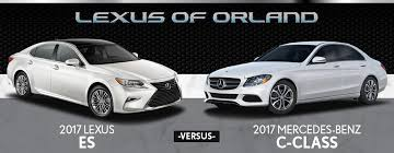 lexus better than mercedes 2017 lexus es vs mercedes c class in orland park il lexus