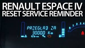 how to reset service reminder in renault espace iv spanner