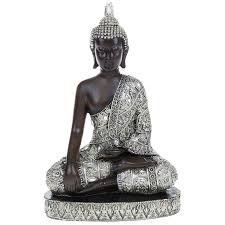 thai buddha statues sitting kneeling standing feng shui silver