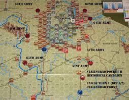 Stalingrad On Map Operation Uranus Aar 3 Game Turns 5 7 Stalingrad Pocket Ii