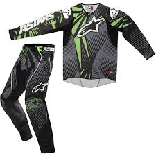 motocross pants and jersey combo alpinestars 2012 techstar motocross kit green black alpinestars