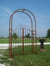 wrought iron garden arch gate combination arbor trellis