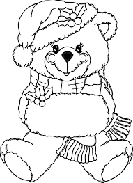christmas coloring book clip art 69