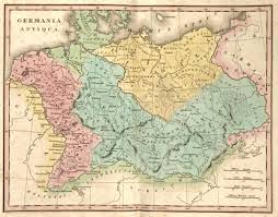 Ancient Map Detailed Ancient Map Of Germany At The Time Of The Roman Empire
