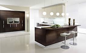 cherry wood black glass panel door modern kitchen design ideas