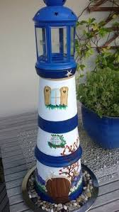 Lighthouse Garden Decor Add Nautical Style To Your Yard With A Diy Flower Pot Lighthouse