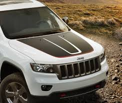 jeep grand cherokee stickers trailhawk hood decal kit grand cherokee 2011 2018 82213690 ship