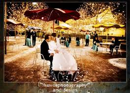 White Christmas Lights Wedding Decorations by Beautiful Winter Wedding Reception Venue With Sparkling Lights