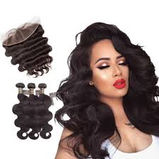 body wave hair with bangs puddinghair virgin body wave hair closure three part middle part