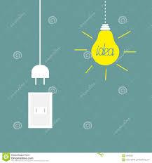 light bulb and plug concept stock vector image 49673449