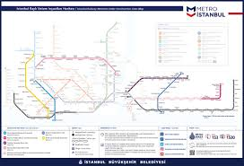 Metro Red Line Map by Metro Istanbul