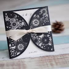 wedding invitations reviews cheap classic black and white chandelier scroll wedding
