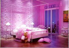 bedroom stylish girls design with purple wall pink heart awesome