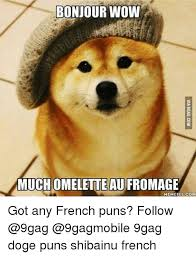 Much Wow Meme - bonjour wow much omelette aufromage meme fulcom got any french puns
