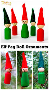 elf peg doll ornaments for christmas elves ornament and dolls