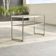 Steel Console Table Stainless Steel Pebbled Glass Console Table