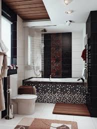 chic bathroom ideas small bathroom idea with black mosaic tiles and chic decor