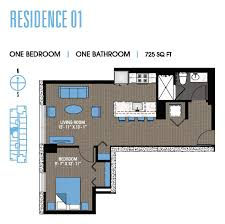 studio to penthouse south loop apartments for rent 1000 south one bedroom 01 floor plan 3