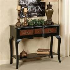 Black Console Table With Drawers Sofa And Console Tables Touch Of Class