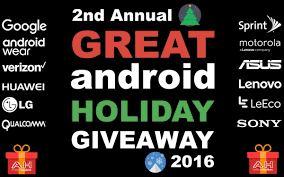 great android the great android giveaway 2016 2017 20 prizes to