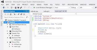 qt programming visual studio qt5 tutorial visual studio add in for qt5 2016