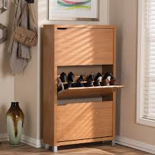 White Shoe Storage Cabinet Baxton Studio Simms Wood Modern Shoe Cabinet In White 28862 4514