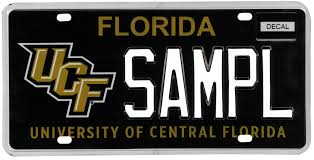 Florida Vanity Plate Cost New Ucf License Plate Goes On Sale This Week Orlando Sentinel