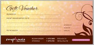 salon gift card hair salon townsville presented by emphasis hair studio call 07