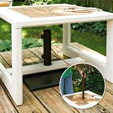 umbrella stand table base make a side table umbrella stand my home my style enotes outside