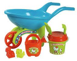 carrinho conjunto brinquedos kitty praia