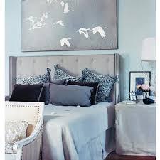 Benjamin Moore Silver Gray Bedroom Bedrooms Benjamin Moore Bird U0027s Egg Gray Tufted Wingback
