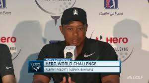 Challenge News 2017 World Challenge Tiger Woods Talks Health Golf Channel