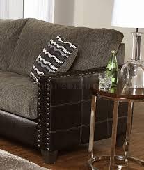 tone contemporary sectional sofa w nailhead trim