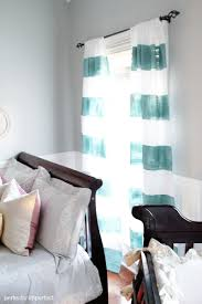 Painting Fabric Curtains Diy Custom Window Treatments Painted And Stenciled Curtains
