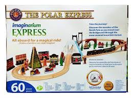 amazon com polar express wood train set with bell toys u0026 games