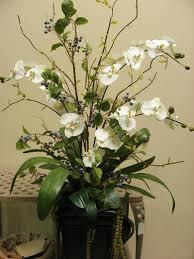 decoration artificial vase arrangements pink fake flower