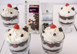 blueberry raspberry chocolate trifles culinary ginger