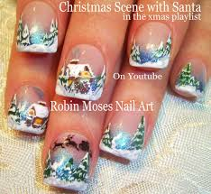 christmas nail art winter wonderland holiday nails xmas design
